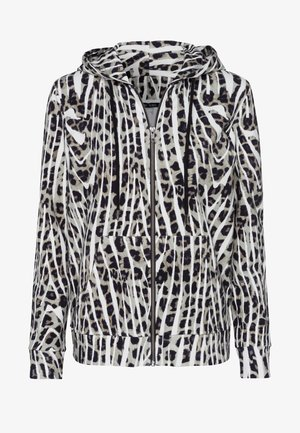 Zip-up hoodie - salvia varied