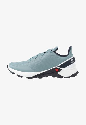 ALPHACROSS - Trail running shoes - lead/white/india ink