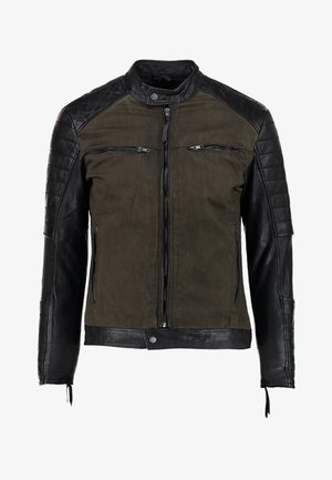 ANDY  - Leather jacket - khaki