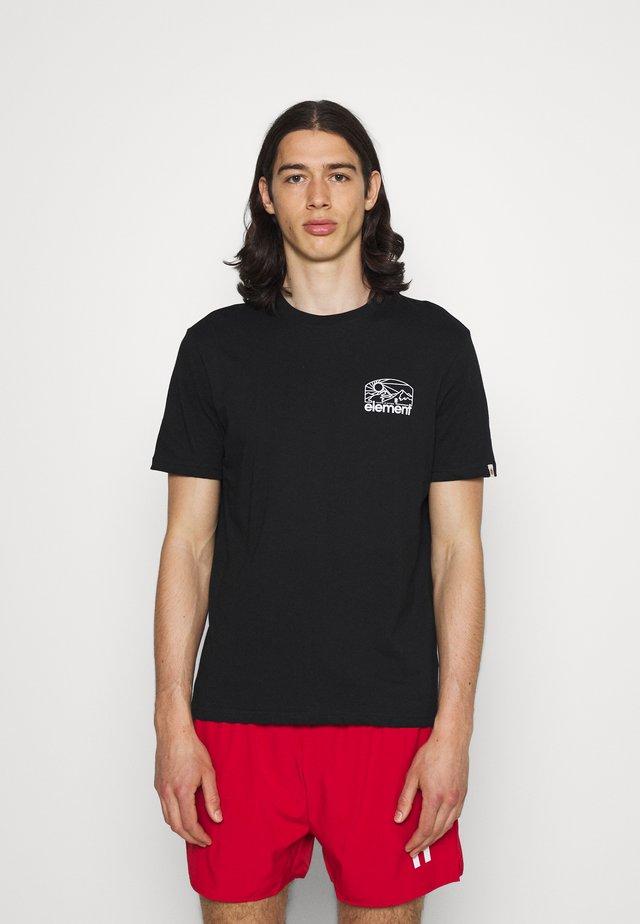 SUNNET - T-shirt print - flint black