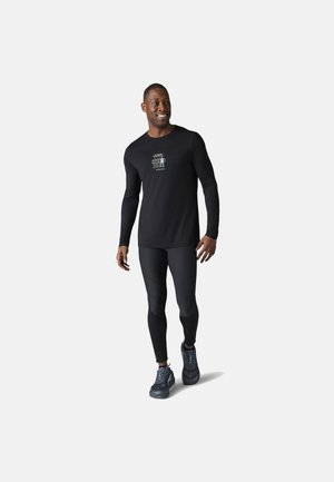 LIGHTWEIGHT SPORT 150 SMARTWOOL LOGO GRAPHIC TEE - Long sleeved top - black