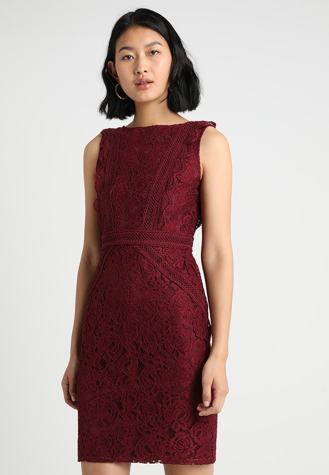 VANIA BODICON DRESS - Vestido de cóctel - burgundy