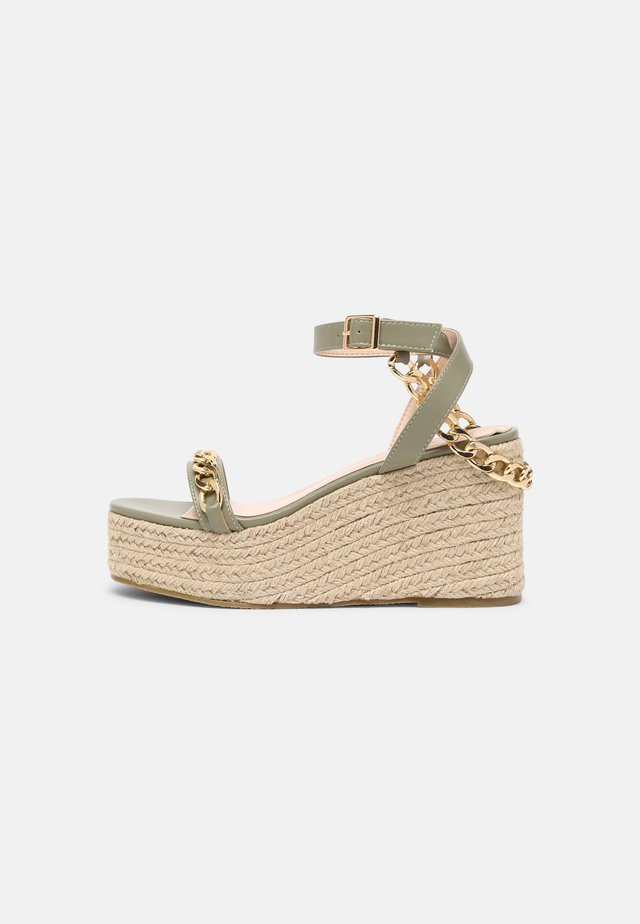 Sandales à plateforme - green