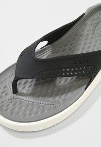 Crocs - CROCS LITERIDE - Pool slides - black / smoke - 5