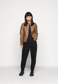 ONLY Petite - ONLMELISA JACKET - Faux leather jacket - cognac - 1