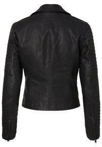 Noisy May - Faux leather jacket - black - 4