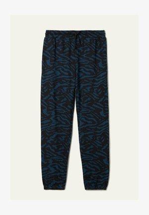 MIT PASPELTASCHEN - Tracksuit bottoms -  blu grafite st.zebra