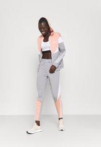 adidas Performance - COLORBLOCK - Tracksuit - ambient blush/medium grey heather/white - 1
