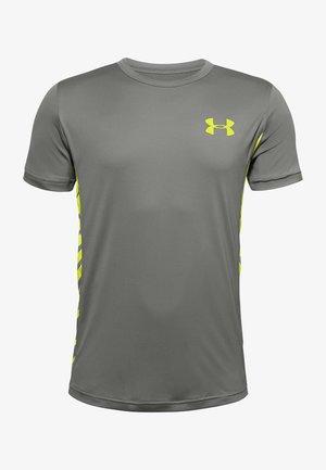 Print T-shirt - gravity green