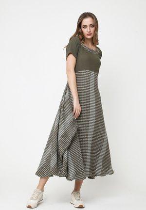 NIGDA - Day dress - khaki, weiß