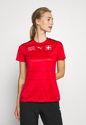 SCHWEIZ SFV HOME SHIRT REPLICA - National team wear - red/pomegranate