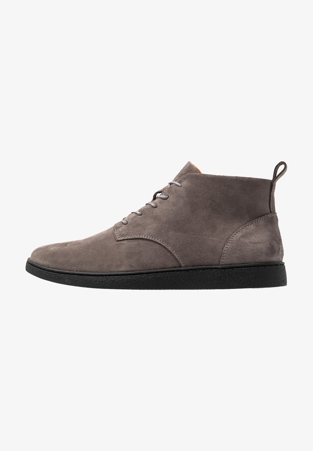 LEATHER - Lace-up ankle boots - grey