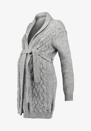 CARDIGAN CABLE - Neuletakki - grey
