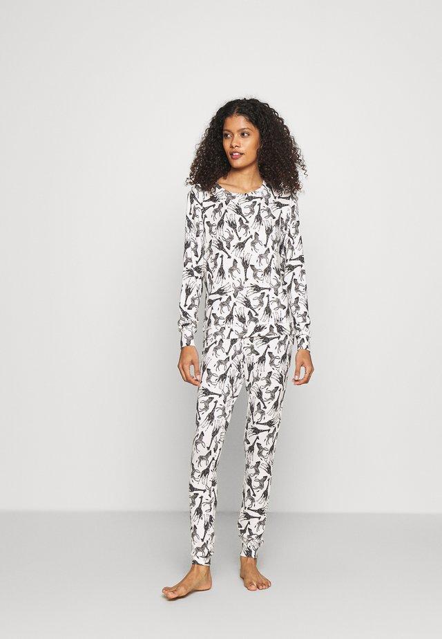 GIRAFFE & ZEBRA PRINT TWOSIE  - Maglia del pigiama - black/white