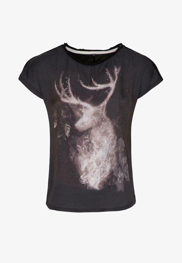 HADELIND - Print T-shirt - schwarz
