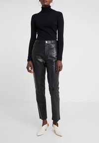 2nd Day - BOOGIE - Leather trousers - black - 0