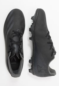 adidas Performance - X GHOSTED.4 FOOTBALL FIRM GROUND - Moulded stud football boots - core black/grey six - 1