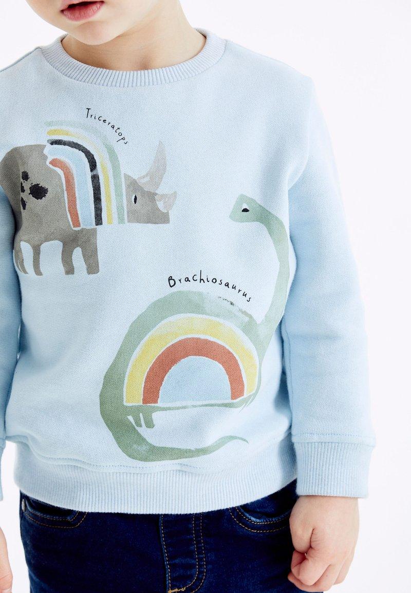 Next - RAINBOW DINO - Sweatshirt - light blue