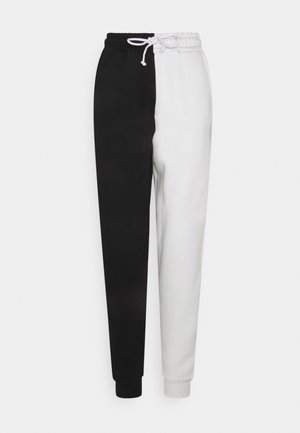 COLOUR BLOCK - Tracksuit bottoms - black