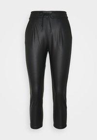 VMEVA MR LOOSE STRING COATED PANT - Trousers - black