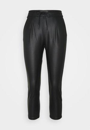 VMEVA MR LOOSE STRING COATED PANT - Kalhoty - black