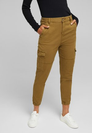 FASHION  - Cargo trousers - olive