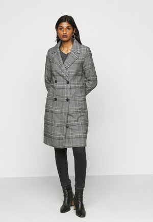 ONLARABELLA CHECK COAT - Mantel - black/cloud dancer