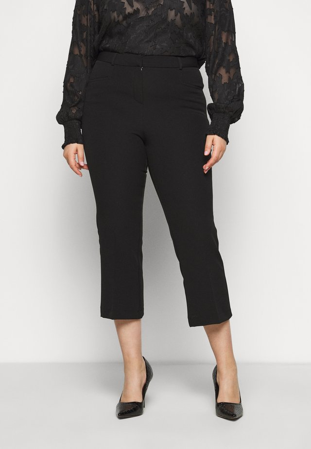 EVERYDAY MOLLY CROP KICKFLARE TROUSER - Pantalon classique - black