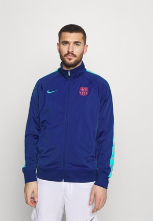 FC BARCELONA TAPE - Chaqueta de entrenamiento - deep royal blue/oracle aqua