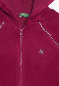 Benetton - JACKET HOOD - Mikina na zip - pink - 4
