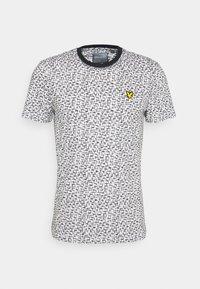 Lyle & Scott - TEE - T-shirt med print - true black/white - 0