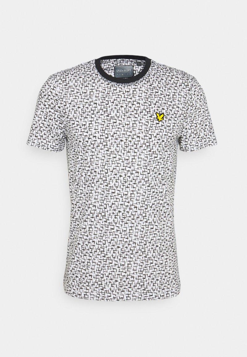 Lyle & Scott - TEE - T-shirt med print - true black/white