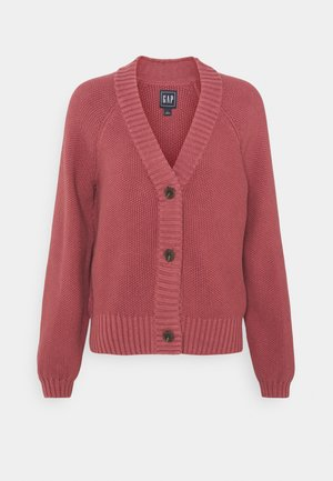 TEXTURED ABBREVIATED - Strikjakke /Cardigans - roan rouge