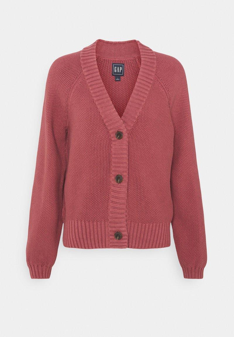 GAP - TEXTURED ABBREVIATED - Vest - roan rouge