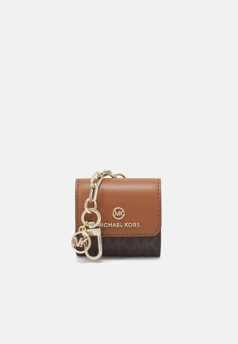 MICHAEL Michael Kors - TRAVEL ACCESSORIES CLIPCASE FOR AIRPODS - Sleutelhanger - brown/acorn