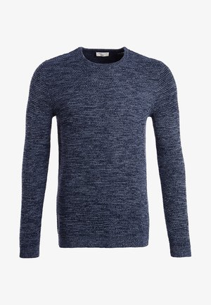 SHXNEWVINCEBUBBLE CREW NECK - Neule - dark sapphire/twisted blue mirag