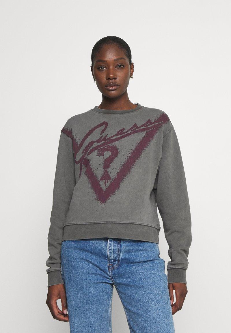 Guess - GRAFFITI  - Sweatshirt - coldjet black