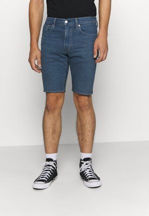 SLIM SHORT - Jeans Shorts - dark-blue denim
