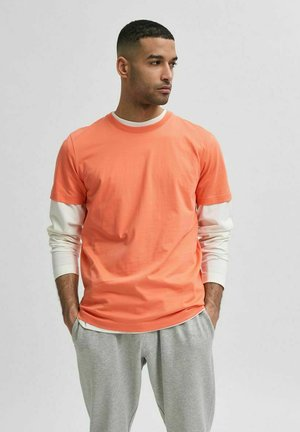 SLHNORMAN O NECK TEE - Basic T-shirt - coral quartz