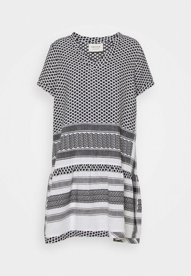DRESS - Robe d'été - black/white