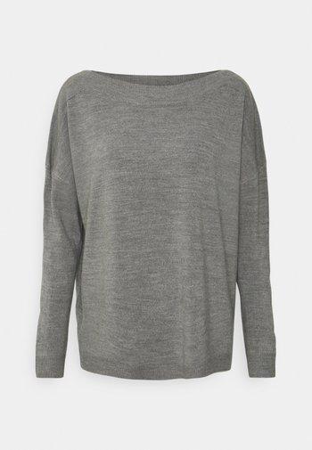 ONLAMALIA BOATNECK - Jumper - medium grey melange