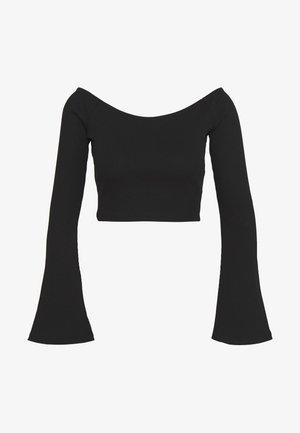 HANNA SCHÖNBERG  X NA-KD - T-shirt à manches longues - black