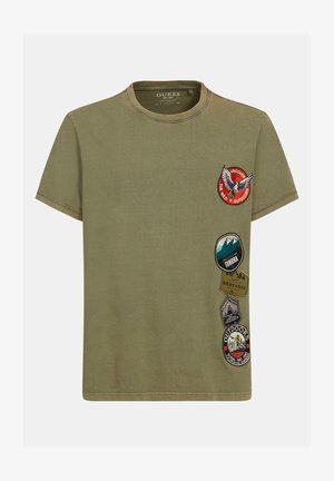 T-shirt imprimé - grün