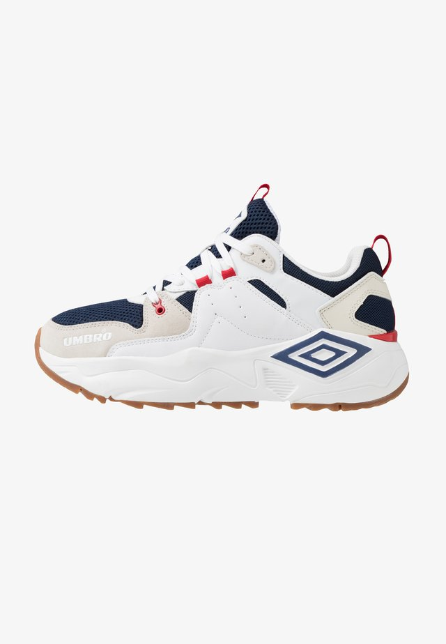 RUNNER - Sneakers laag - white/dark navy/offwhite/vermillion