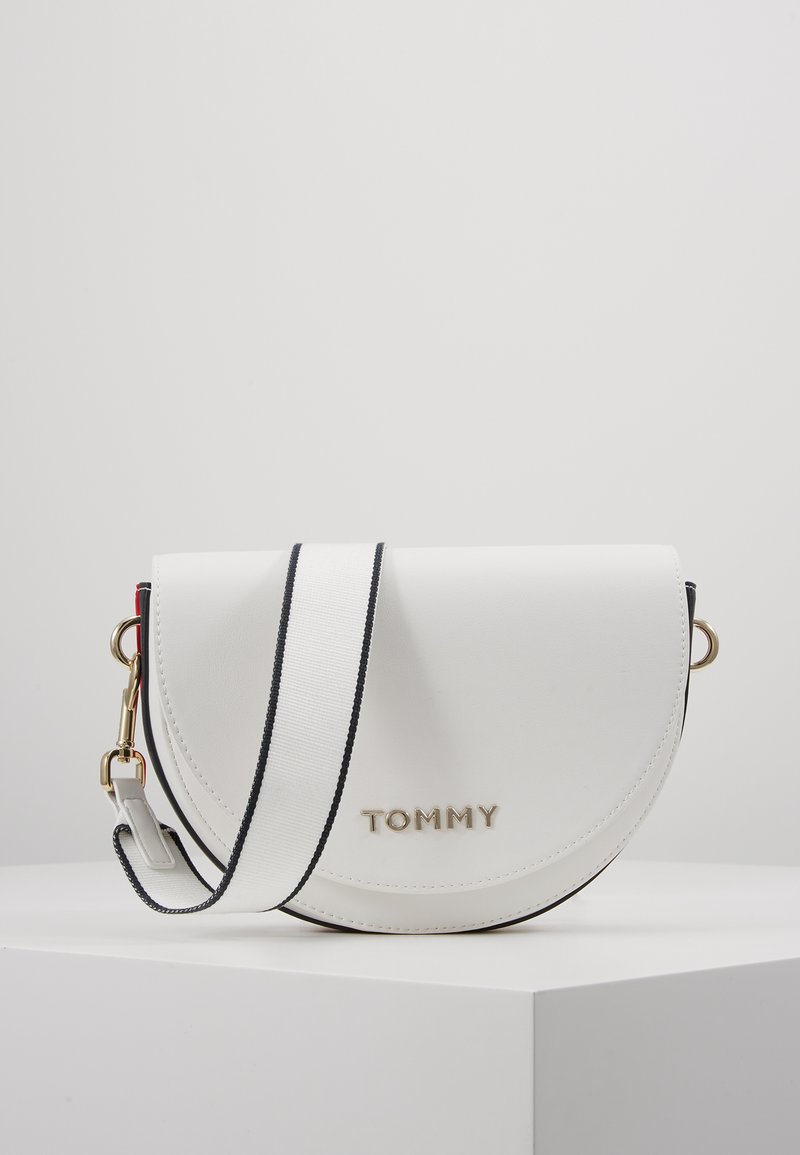 Tommy Hilfiger - TOMMY STAPLE SADDLE - Across body bag - white