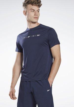 LES MILLS® PERFORATED T-SHIRT - Print T-shirt - blue