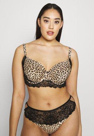 MEGHAN BRA - Underwired bra - black/light brown