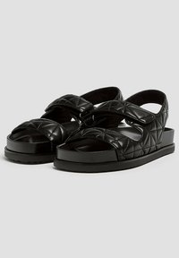 PULL&BEAR - Platform sandals - black - 2