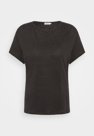 HAZEL TEE - Jednoduché triko - dark mole