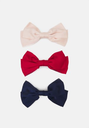 ONLMEREL BOW 3 PACK - Hair Styling Accessory - navy blazer/red/pink